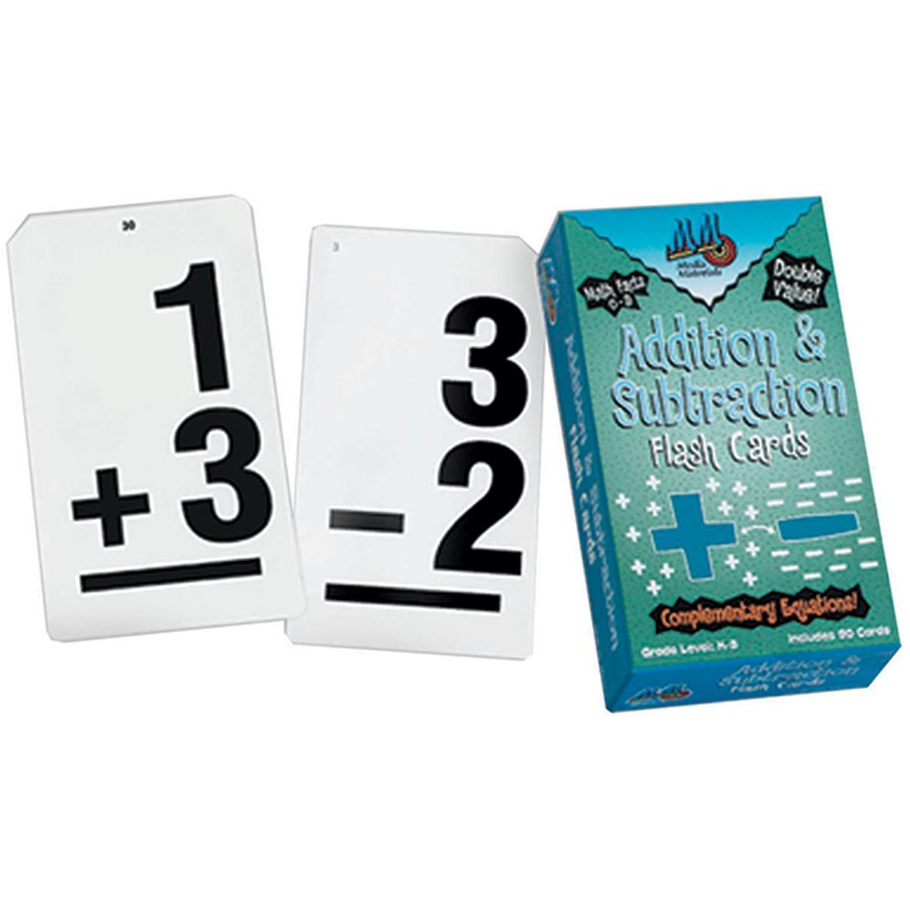 Vertical Flash Cards Addition and Subtraction Set