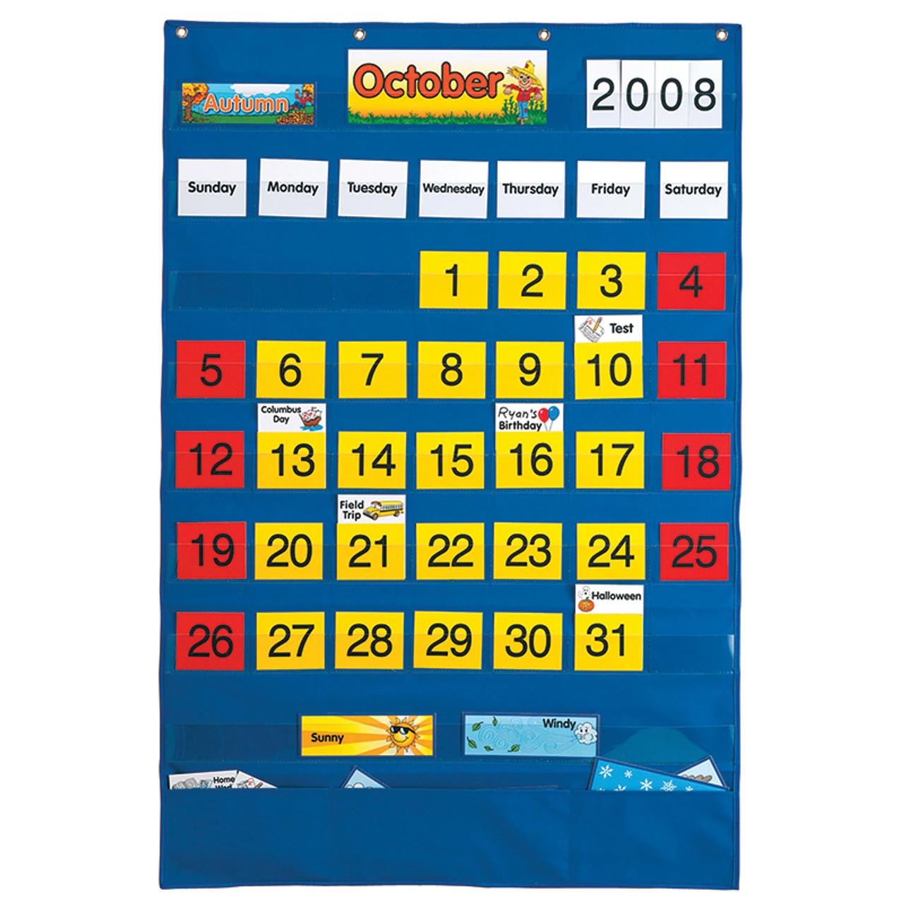 Calendar Pocket Chart English and Spanish