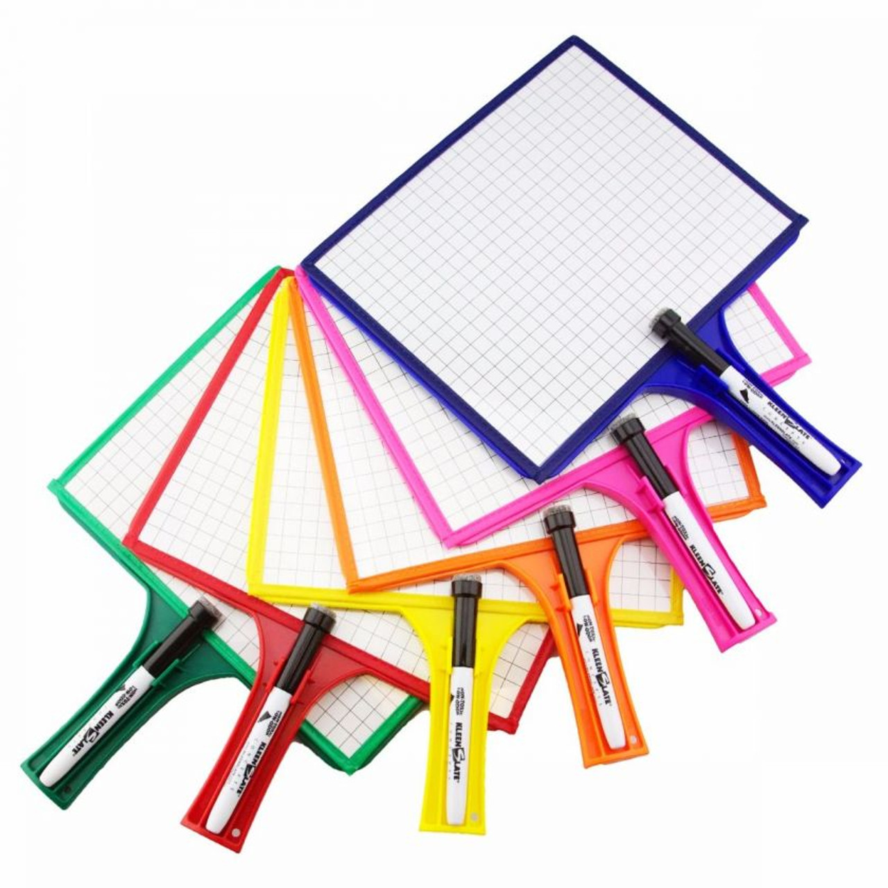Class Set of 24 Customizable Whiteboards with Dry Erase Sleeves