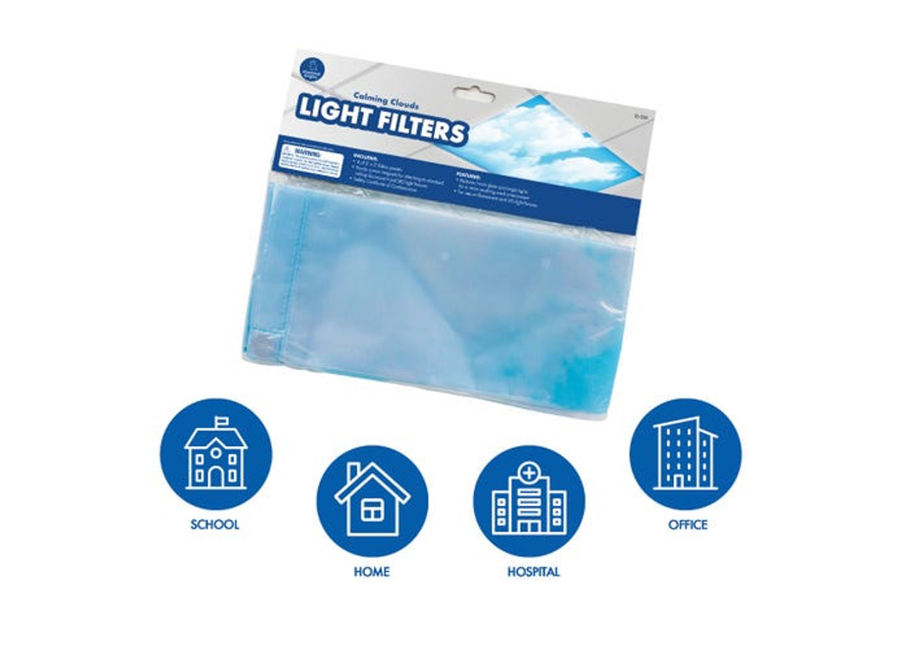 Calming Clouds Classroom Light Filters Set of 6