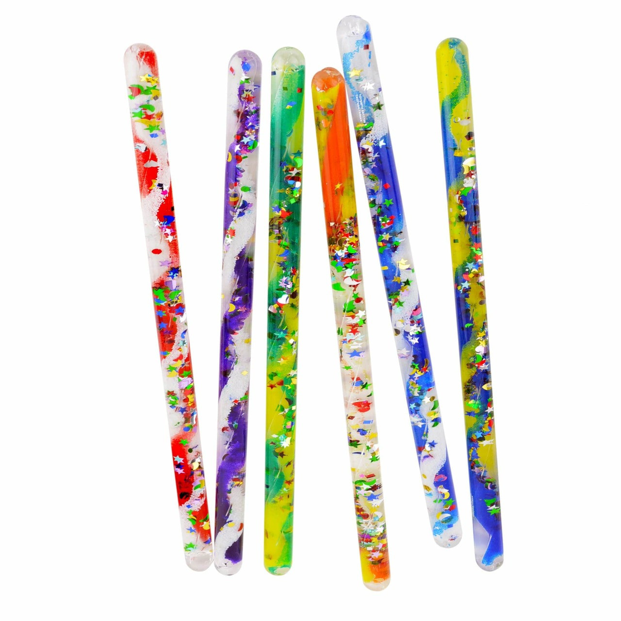 "1x 12/"" Spiral sparkle glitter wand sensory visual play toy fidget autism"