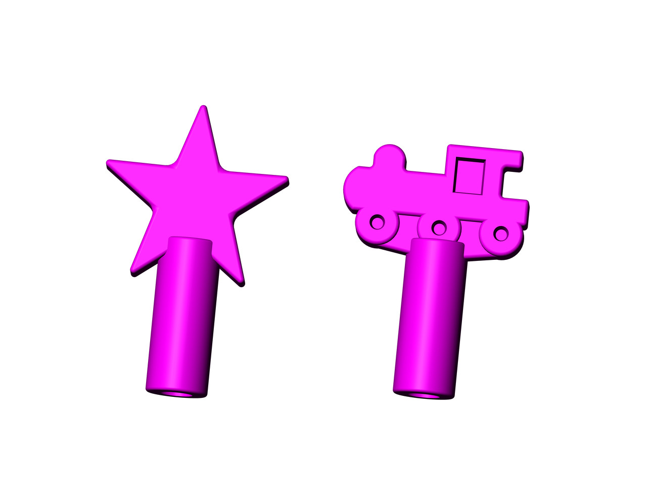 Chew Stixx Pencil Toppers Chewable Shapes by UDI - Grape