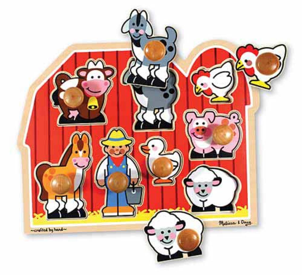 12 Barnyard Animals Puzzles