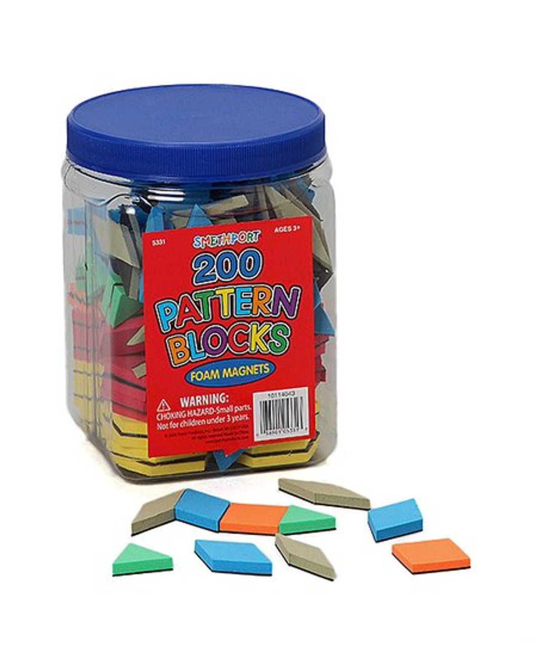 Pattern Blocks Magnets 200 pieces