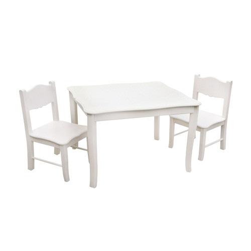 Classic White Table and Chairs