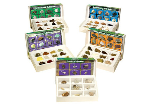 Complete Rock Mineral and Fossil Set
