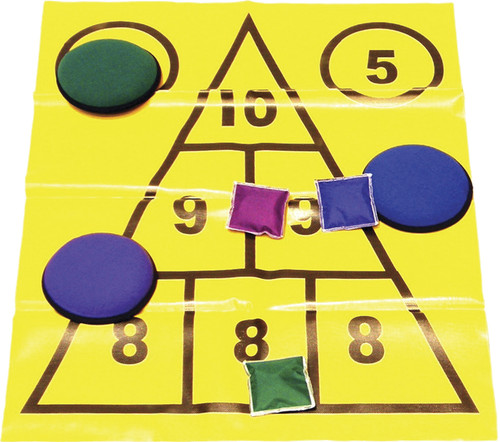 Triangle Mat Throw Game Set