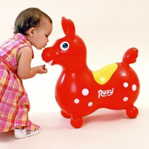 Blue Rody Horse with pump