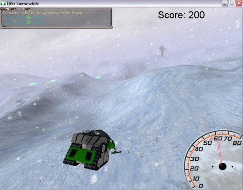 EASe Snowmobile Music Therapy Game