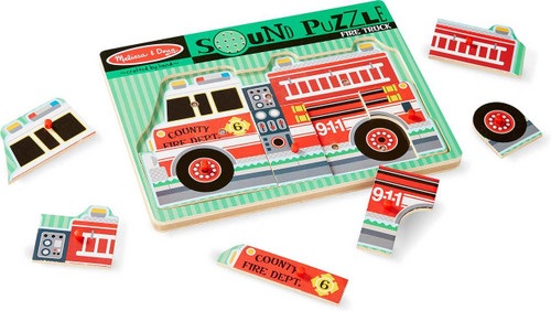 Fire Truck Sound Puzzle - Set of 3