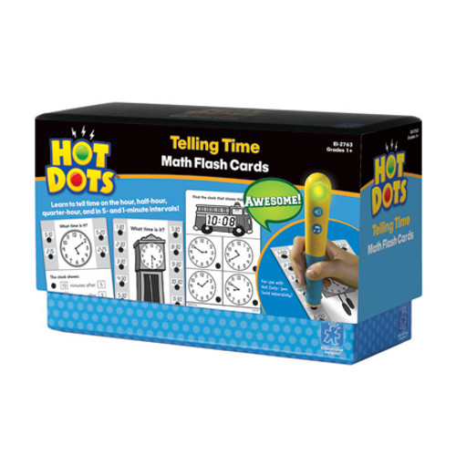 Hot Dots Telling Time Flash Cards