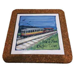 Manx Steam Train Art Trivet Presence Of Mann Ltd For Isle Of Man Gifts