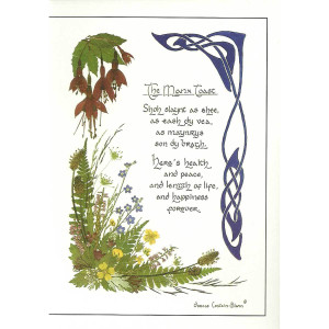 Dorcas Costain-Blann Greetings Card, the Manx Toast in Manx and English