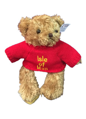 Isle of Man teddy in red jumper
