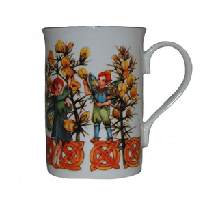 Gorse fairy flower mug