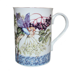 Manx flower fairy elder flower mug