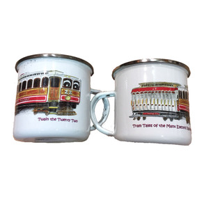 Twain Twenty Two, electric tram tin mug