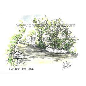 Hancox Art greetings card featuring Fairy Bridge
