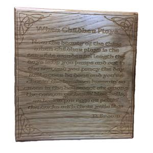 Wooden T E Brown plaque
