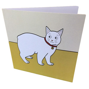 Manx cat greeting card