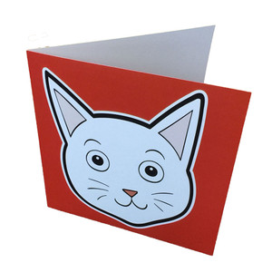 Cat face mask card