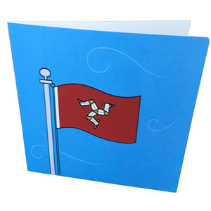 Manx flag card