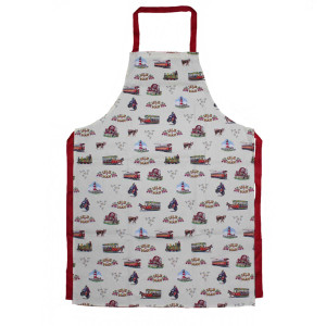 multi icon apron from the Isle of Man