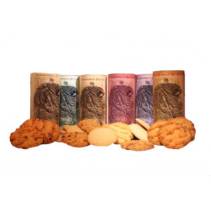 The range of Manannan biscuits