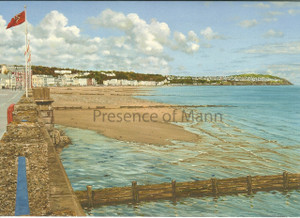 Blank greeting card of Douglas Promenade, Isle of Man, by artist Tracey Dean