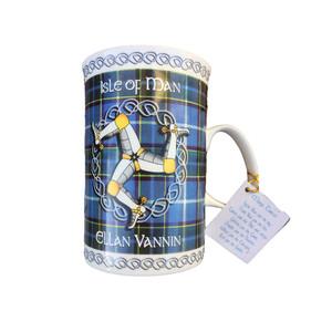 Manx tartan mug