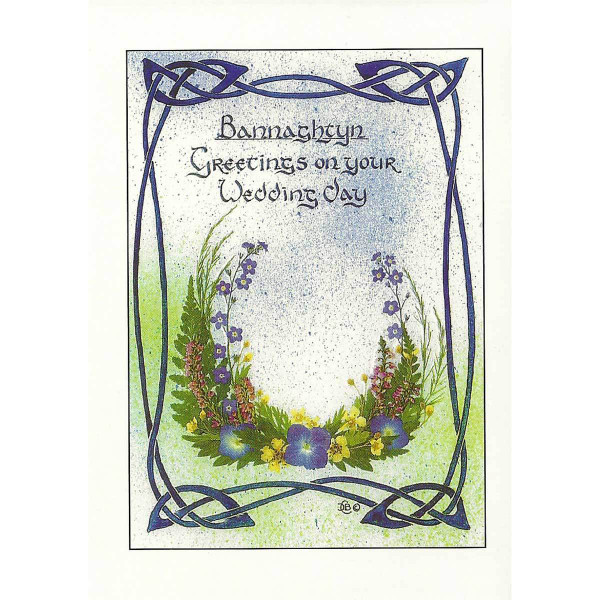 Dorcas Costain-Blann designed greeting card for wedding day