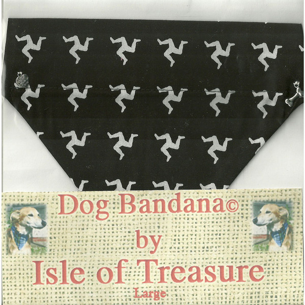 Black 3 leg dog bandana