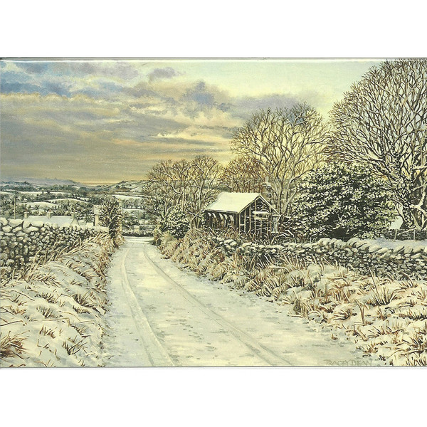 Tracey Dean Christmas Card, Emily Watson's Cottage, Crosby
