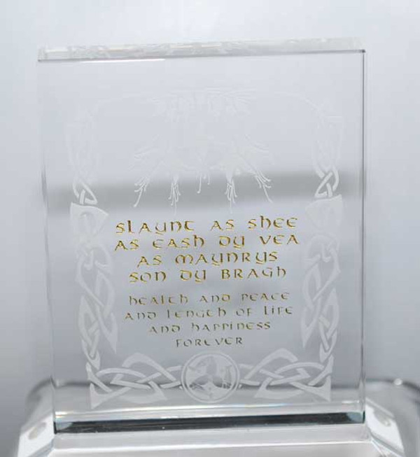 Manx toast glass plaque small