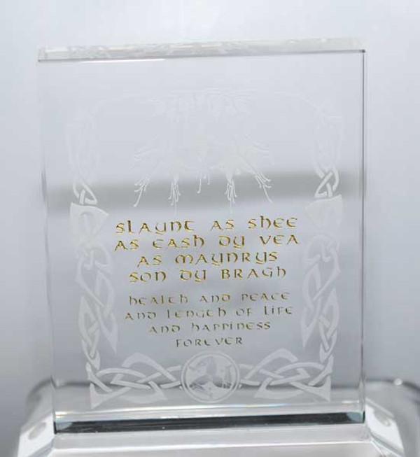 Manx toast glass plaque small