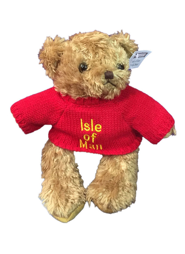 Isle of Man teddy in red jumper
