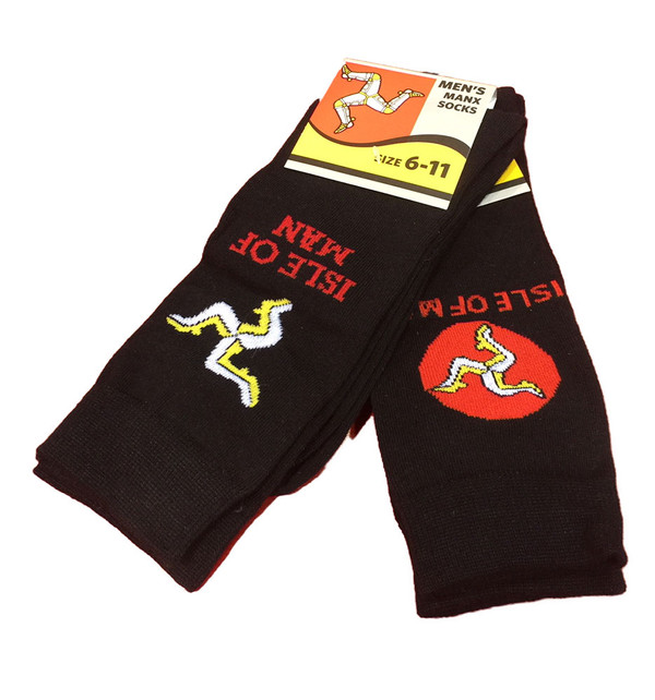 2 Pairs of Isle of Man socks