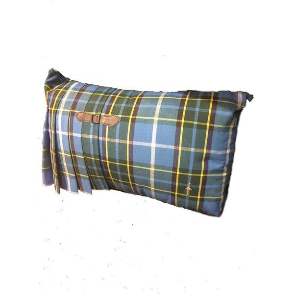 Tartan kilt cushion