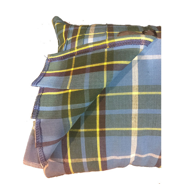 corner of kilt cushion