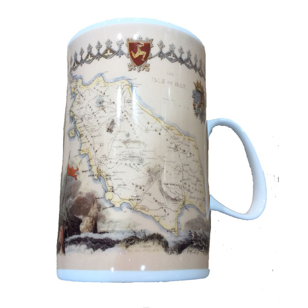 The Isle of Man mug with upside down antique map