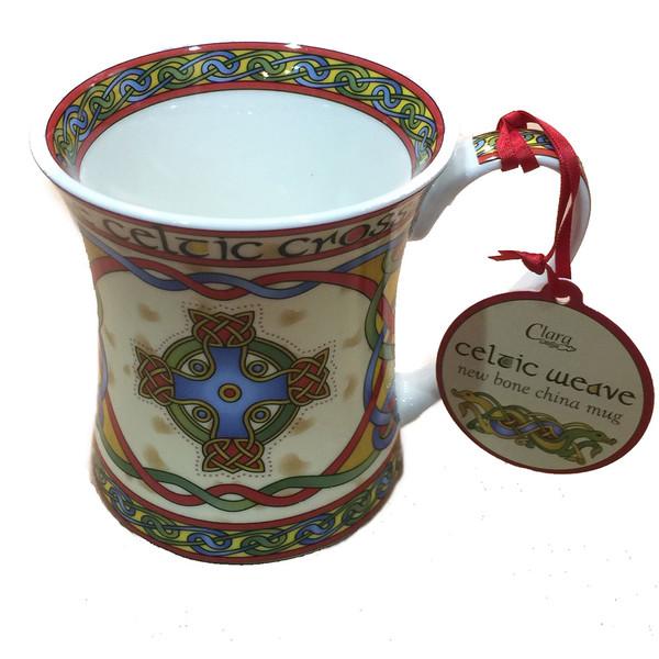 Manx celtic cross mug