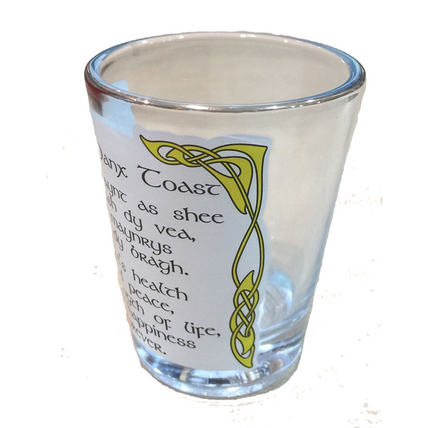 Souvenir Isle of Man shot glass