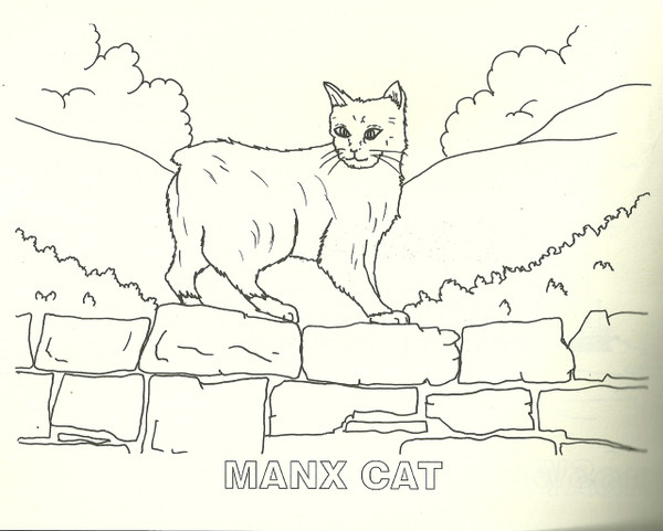 Inside page of Isle of Man colouring book