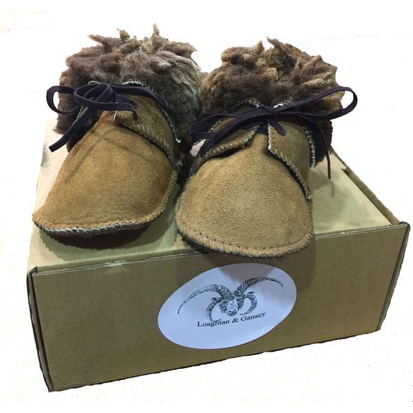 Manx Loaghtan Sheepskin Baby Bootees