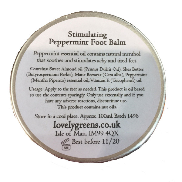 Lovely Greens foot balm