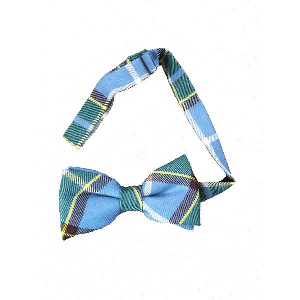 Ready tied Manx tartan bow tie