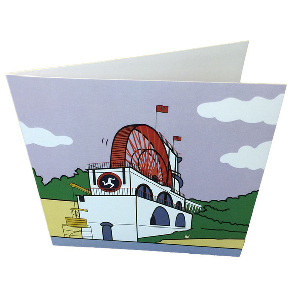 Laxey wheel greeting card