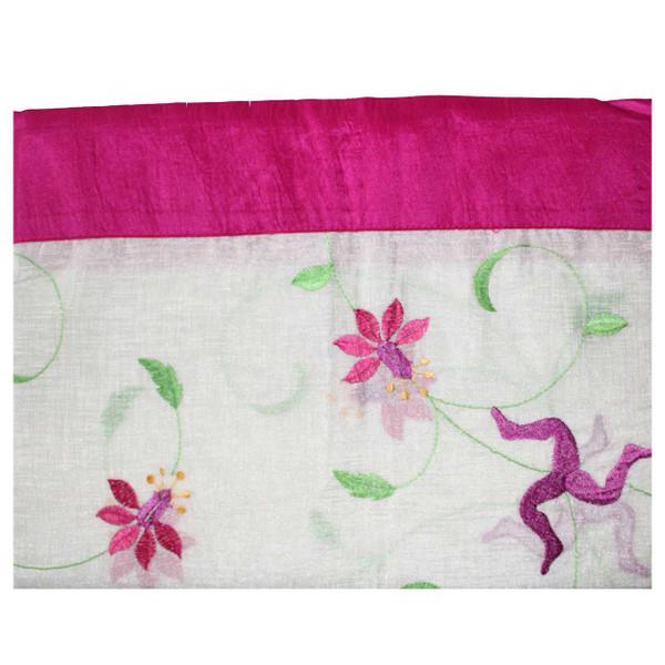 Manx Fuchsia table cloth with 3 legs
