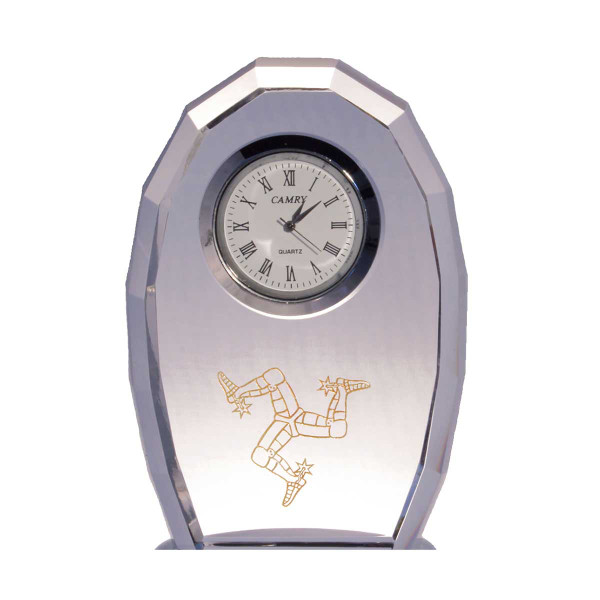 3 Legs Engraved Crystal Clock
