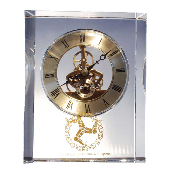 Large 'Manx Time' Clock